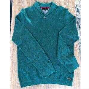TED BAKER LONDON Men's Sweater with Button Collar